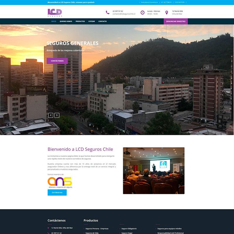 Página Web LCD Seguros