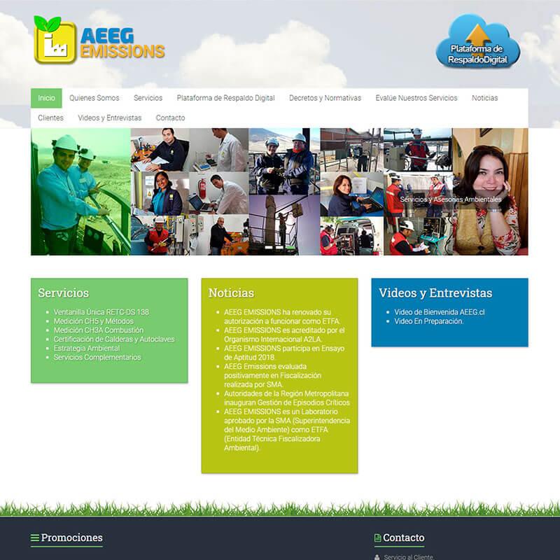 Página Web AEEG