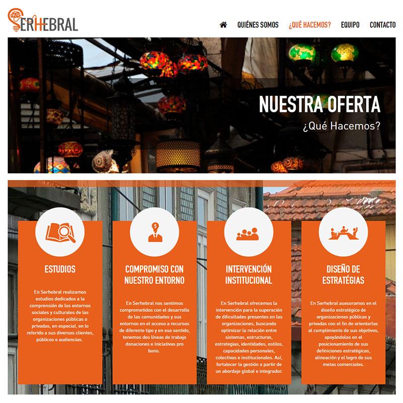 Página Web Serhebral